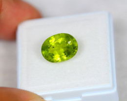 4.05ct Green Peridot Oval Cut Lot GW3908