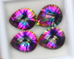 11.43ct Mystic Topaz Pear Cut Mix Size Lot GW3926