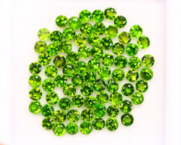 7.20ct Chome Diopside Round Cut 2.8 mm Lot GW3940