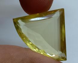 28x22mm Lemon Quartz Checkered Natural Untreated VAF189