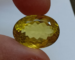 20x14mm Lemon Quartz Checkered Natural Untreated VAF193
