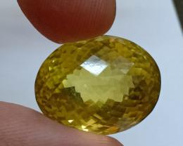 20x16mm Lemon Quartz Checkered Natural Untreated VAF195