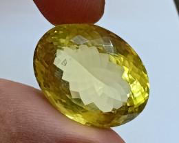 22x17mm Lemon Quartz Checkered Natural Untreated VAF197