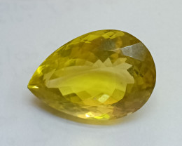 21x14mm Lemon Quartz Checkered Natural Untreated VAF199