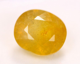 5.61ct Yellow Sapphire Oval Cut Lot V4311