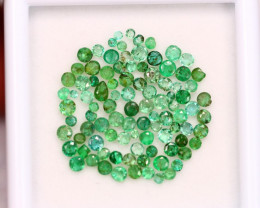 3.88ct Zambia Green Emerald Round Cut Lot V4329