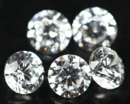 1.20mm 5Pcs G/VS Natural White Diamond E0805