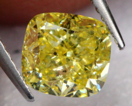 0.57Ct Vivid Intense Yellow Fancy Natural Diamond E0809