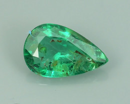 NATURAL EMERALD ZAMBIA GREEN TOP COLOR PEAR WONDERFUL!!