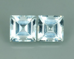 2.00 Cts Nice Quality Natural Light Blue Colour Aquamarine  Untreated Sqare
