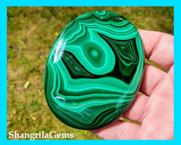 81mm 545ct Malachite cabochon AAA
