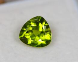 2.44Ct Green Peridot Trillion Cut Lot B632