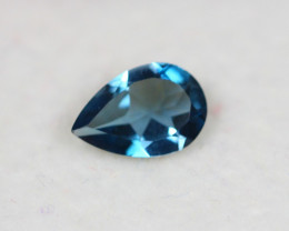 1.20Ct Natural London Blue Topaz Pear Cut Lot E17