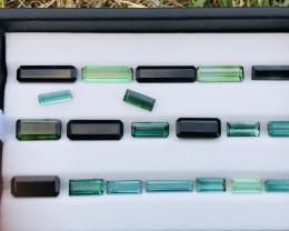 36.50 Carats  Natural Mixed Color  Tourmaline Gemstones Parcel