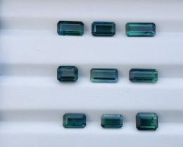 14 Carats Natural Blue and Green Bi Color Tourmaline  Gemstones Parcel
