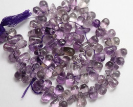 """LOVELY """"A+"""" NATURAL 5X8-6X9.00MM SMOOTH AMETHYST BEADS!!"""