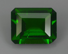 2.95 CtS ATTRACTIVE ULTRA RARE NATURAL CHROME DIOPSIDE OCTAGON RUSSIA!!