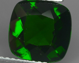 3.00 CTS ATTRACTIVE ULTRA RARE NATURAL CHROME DIOPSIDE OCTAGON RUSSIA!!