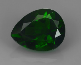 2.70 CTS WONDERFUL RAREST 100% NATURAL BEST AAA CHROME DIOPSIDE PEAR!!