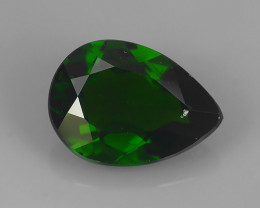 2.95 CTS WONDERFUL RAREST 100% NATURAL BEST AAA CHROME DIOPSIDE PEAR!!