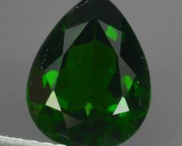 2.58 CTS WONDERFUL RAREST 100% NATURAL BEST AAA CHROME DIOPSIDE PEAR!!