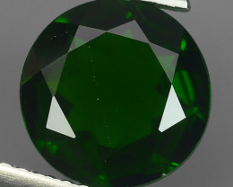 2.80 CTS  BEAUTIFUL 9MM ROUND RARE HUGE NATURAL CHROME DIOPSIDE RUSSIA!!