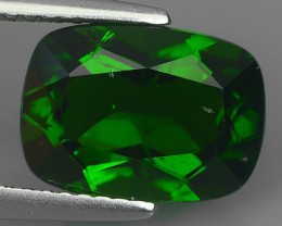 3.90 CTS ATTRACTIVE ULTRA RARE NATURAL CHROME DIOPSIDE CUSHION RUSSIA!!