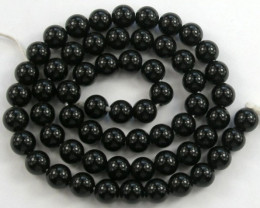 "LOVELY ""AAA"" 6.00MM BLACK ONYX PLAIN ONYX  BEADS"