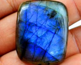 Genuine 79.00 Cts Blue Flash Labradorite Cabochon