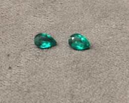 1,28ct Pair of Colombian Emeralds Colombian Emeralds Colombian Emeralds