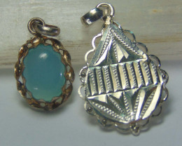 Agate pendent ~ antique stone~ fantasy silver designs 26.00cts