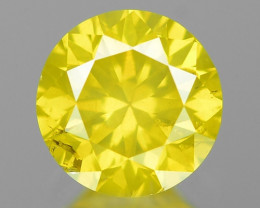 0.40 Ct Yellow Diamond Awesome Luster Gemstone D13
