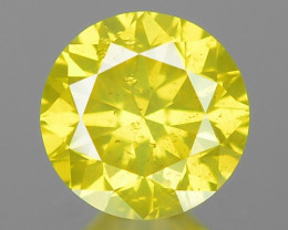 0.24 Ct Yellow Diamond Awesome Luster Gemstone D21