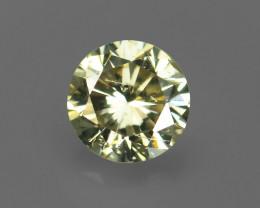 .08CT 2.6mm NATURAL L Color WHITE DIAMOND Round Brilliant Cut