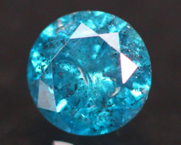 0.56Ct Fancy Vivid Titanic Blue Natural Diamond A0902