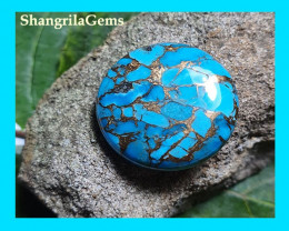 25mm Mojave Turquoise cabochon cushion 25mm by 5.5mm 28ct