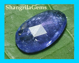 17mm 7.10ct Tanzanite rose cut gemstone cabochon free form 17 by 11 by 4mm