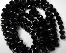 BEAUTIFUL  AAA 10.00MM BLACK ONYX CARVED LANTERN BEADS!