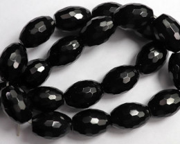 AAA 13X18.00MM BLACK ONYX FACETED DRUM BEADS!