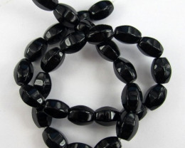AAA LOVELY BLACK ONYX 9X14.00MM 4-SIDED BARREL BEADS!