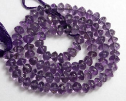 FABULOUS AA+ 5-6.00 AMETHYST SMOOTH BUTTON BEAD STRAND!