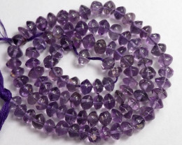FABULOUS AA+ 4.5-5.50MM AMETHYST SMOOTH BUTTON BEAD STRAND!
