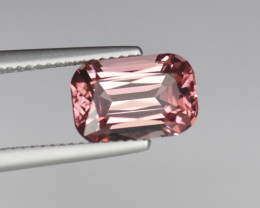 3.58 PRECISION CUT FLAME TOURMALINE with Pinkish Orange Fire