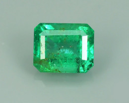 ~STUNNING TOP FIRE 100%NATURAL OCTAGON EMERALD ZAMBIA NR!
