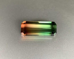Loupe Clean Vibrant Transparent Tri Color Tourmaline 55 ct - Octagon - Afri