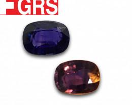 Natural | GRS | Color Change sapphire |Loose Gemstone|New| Sri Lanka