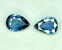 2.10 Carats Pair Of Gorgeous Color Royal Blue Sapphire Gemstone