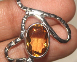 Natural Citrine 925 Sterling Silver Pendant 144