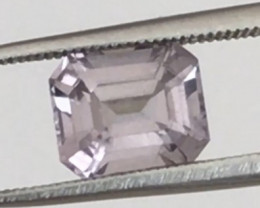 REDUCED Pretty Silver Grey Emerald Cut Grey Spinel - Burma   G590