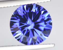 5.66 ROUND BRILLIANT CUT 11mm+ NATURAL TANZANITE